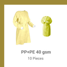 Isolation Gowns PP+PE 40 gsm – Pack of 10